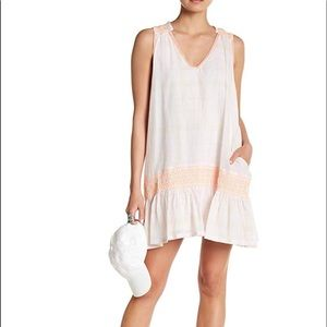 Free People Run with me Smocked dress lined gauze